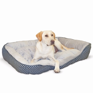 K&H Pet Products Self Warming Lounge Sleeper Square Pet Bed Large Black