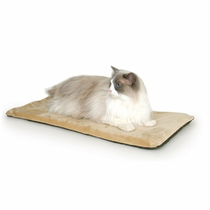 K&H Pet Products Thermo-Kitty Mat Mocha 12.5x 25x 0.5 Inch