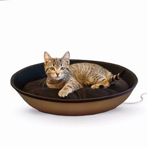 "K&H Pet Products Thermo-Mod Sleeper Small Tan/Black 18.5"" x 14""  5"""