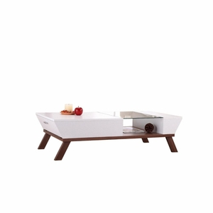 Karli Glass Top Insert Contemporary Coffee Table