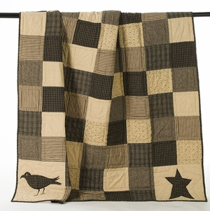 "Kettle Grove Cotton Quilt Lap Throw 50""x60"" Brand VHC"