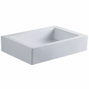 Kingston Brass Pacifica White China Vessel Bathroom Sink without Overflow Hole