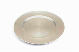 Lacquered Leaf Rim Charger Plates in Silver Finish - Set of 24  - 85651 by Benzara