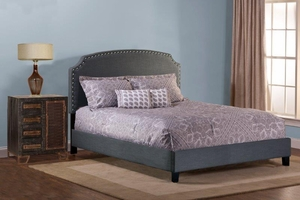Lani Bed - Cal King - Rails Included - Dark Linen Gray