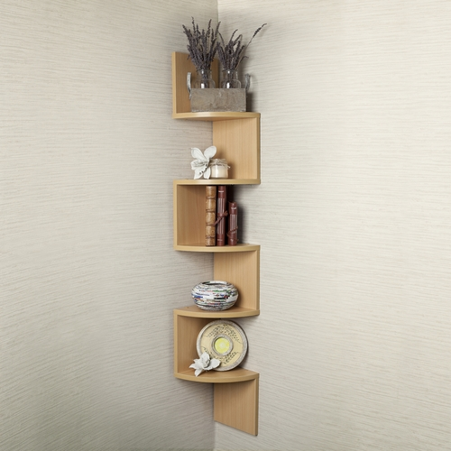 Buy large laminated beech veneer corner wall mount shelf Corner wall mounted shelves