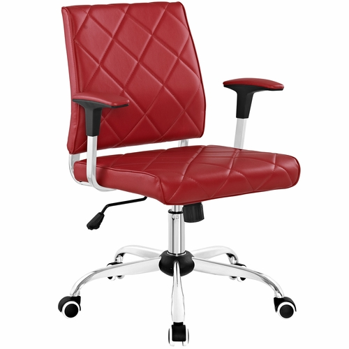 buy lattice vinyl office chair red at