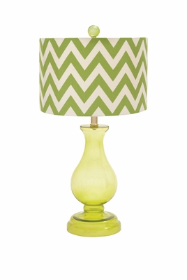 Lemon Yellow Polished Enthralling Styled Glass Table Lamp - 97346 by Benzara