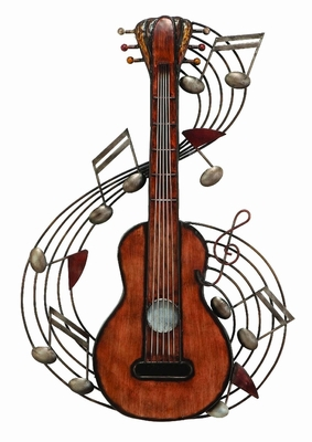 METAL MUSIC WALL PLAQUE EXHIBITS PASSION FOR MUSIC - 65830 by Benzara