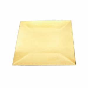 "Lightweight 12"" Square Charger Plate in Gold Finish of Set / 24 - 96829 by Benzara"
