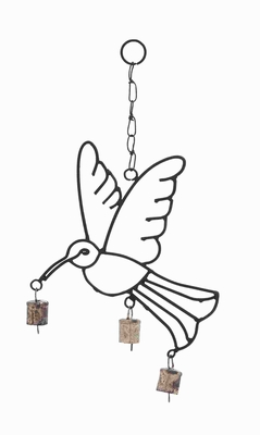 Lightweight And Crafted With Quality Metal Bird Wind Chime - 26741 by Benzara