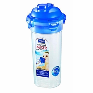 Lock&lock Round Tall Food Container 690ml (W/ Mixer) One Touch