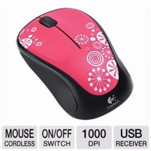 Logitech M317 Wireless Mouse Peppermint Candy