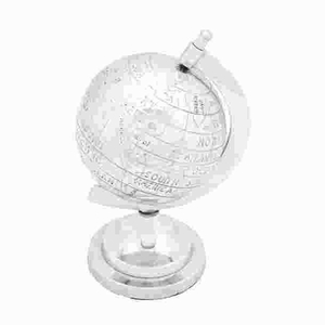 Aluminumdecor Globe With Intricate Detail Work - 26995 by Benzara