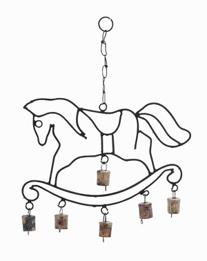 Long Lasting Metal Horse Wind Chime With Fascinating Design - 26738 by Benzara