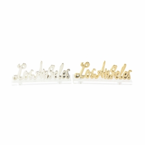 Los Angeles - Silver And Gold Finish, 2 Assortment - 98424 by Benzara