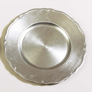 """Set of 36 Tuscany Silver Charger Plates 13"""" Dia - 74179 by Benzara"""