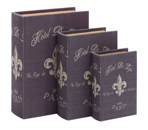 Book Box Set With Paris Hotel Theme - 54165 by Benzara