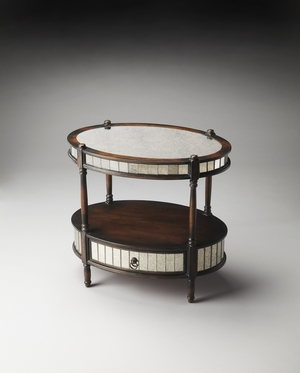 Lovely Barrington Oval Accent Table by Butler Specialty