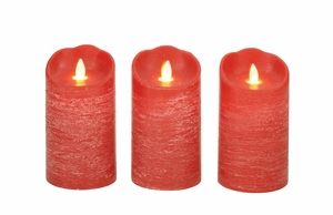 Lovely Set Of 3 Flameless Candle With Remote - 54887 by Benzara