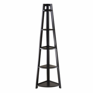 Lustrous Five Tier Alluring A Frame Corner Shelf by Winsome Woods