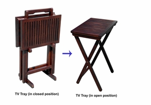 Luxemborg Television Tray Set Equipped With Sturdy Storage Stand by D-Art