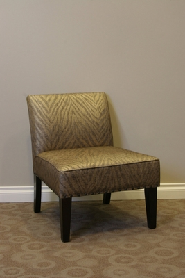 4D Concepts Luxurious Belinda Metallic Woven Linen Accent Chair