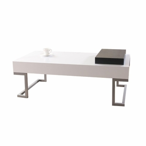 Lyrik Modern Coffee Table With Serving Tray