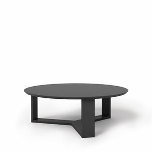 "Madison 1.0- 35.78"" Round Accent Coffee Table in Black Gloss"