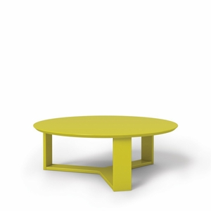 """Madison 1.0- 35.78"""" Round Accent Coffee Table in Lime Gloss"""