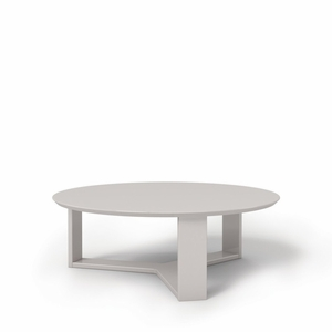 "Madison 1.0- 35.78"" Round Accent Coffee Table in Off White"