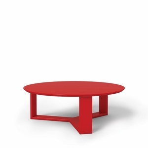 """Madison 1.0- 35.78"""" Round Accent Coffee Table in Red Gloss"""
