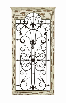 Magical Wooded Gate Style Wall Plaque - 55956 by Benzara