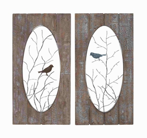 Wooden Assorted Set of 2 Panel wall decor - 93832 by Benzara