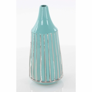 Magnificent Ceramic Vase With Glossy Finish - 42373 by Benzara