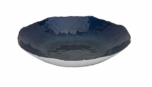 Magnificent Indigo Glass Charger