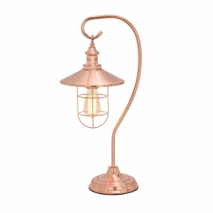 Magnificent Metal Copper Table Lamp with Bulb - 39106 by Benzara
