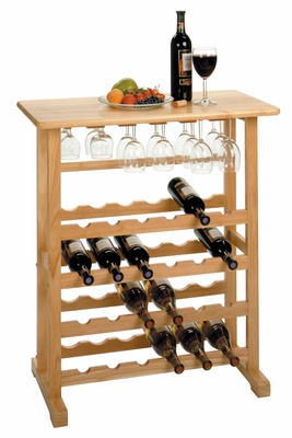 Magnificent Piece of 24-Bottle Beech Wine Rack by Winsome Woods