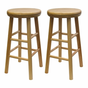 """Magnificent Set of Two 24"""" Swivel Stool by Winsome Woods"""