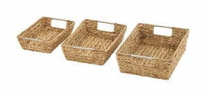 Magnificently Crafted Set Of 3 Sea Grass Baskets - 49041 by Benzara