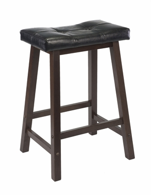 "Majestic Piece of Mona 24"" Cushion Saddle Seat Stool by Winsome Woods"