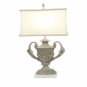 Majestic Polystone Marble Table Lamp - 58673 by Benzara