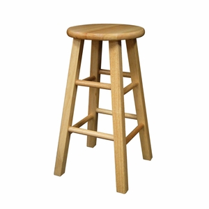 """Majestic Set of 2 Square leg Assembled 24"""" Stool by Winsome Woods"""