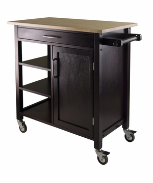 Winsome Wood Mali Kitchen Cart with Graceful and Fashionable Finesse