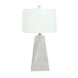 Mallory Beige Cement Table Lamp - 78499 by Benzara