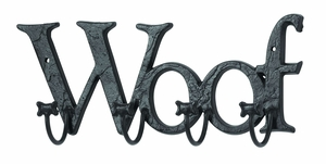 Mankind's Best Friend Wall Hook With Woof Message - 66550 by Benzara