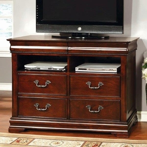 Mandura Luxurious English Style Media Chest, Cherry Finish