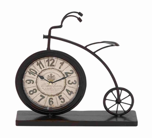 The High Wheel Bicycle Designed Desk Clock - 92204 by Benzara