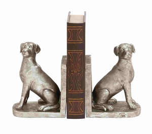 Hoary shiny dog bookend - 78811 by Benzara
