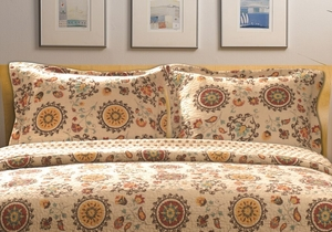 Greenland Home Fashions Marquis Collection Andorra Multi Color King Sham