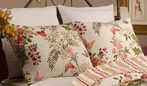 Greenland Home Fashions Marquis Collection Butterflies Multi Color Standard Sham